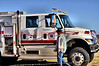 Simla Engine 210 on the scene of a working structure fire in far Eastern El Paso County, Colorado.