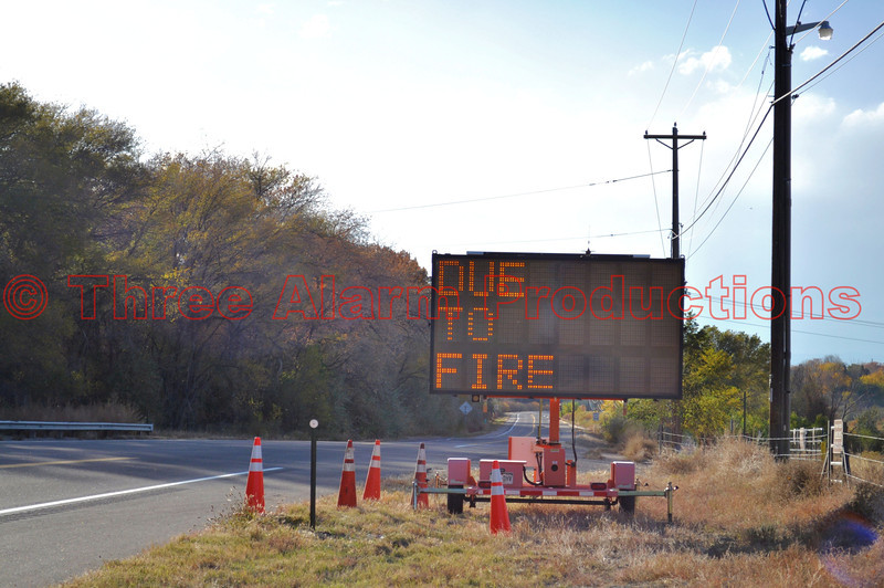 Colorado 96 is closed westbound from Red Creek road to Wetmore.<br /> <br /> Wetmore Fire Current Situation:<br /> Total Personnel: 160<br /> Size: 2,100 acres<br /> Percent Contained: 15%<br /> Fuels Involved: grass, ponderosa pine, oak brush