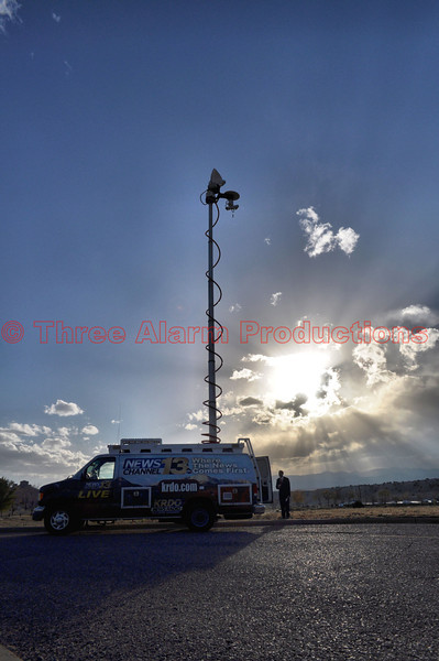KRDO News 13 doing live coverage of the Wetmore Fire at Lake Pueblo State Park.
