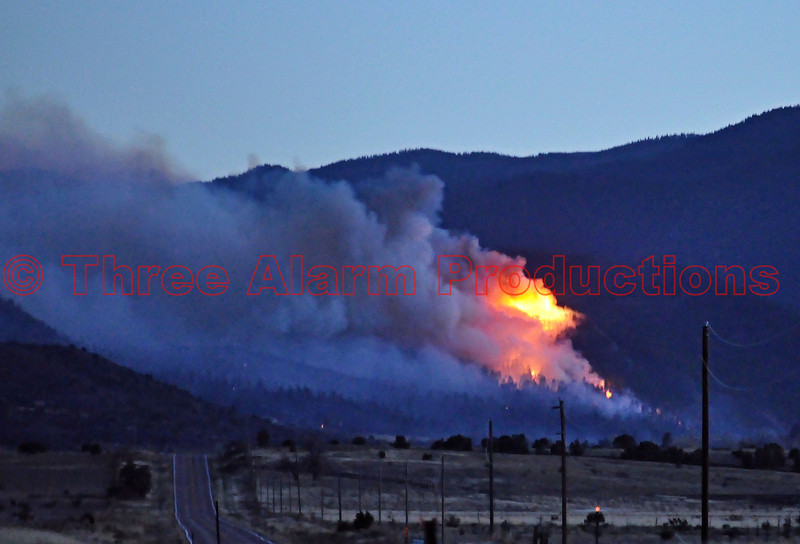 This picture is a look back on Day 1 of the Wetmore Fire, taken during that evening from CO Highway 67 in Florence, CO.<br /> Resources and Agencies used during this incident are:<br /> Buelah Fd<br /> Bureau of Land Management<br /> Canon City Fd<br /> Chaffee County Fd<br /> Colorado Department of Transportation<br /> Colorado Mounted Rangers<br /> Colorado Springs Fd<br /> Colorado State Patrol<br /> Cripple Creek Fd<br /> Custer County<br /> Florence Pd<br /> Fremont County<br /> Long Canyon Fd<br /> Manitou Springs Fd<br /> Pueblo County<br /> Pueblo West Fd<br /> Rye Fpd<br /> South Arkansas Fd<br /> South Metro Fd<br /> Tallahassee Fd<br /> US Forest Service<br /> West Metro Fd<br /> Wetmore Fd