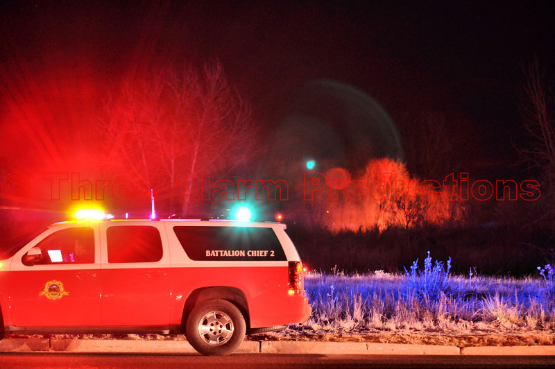 Colorado Springs Battalion Chief 2, on scene with Cimarron Hills Fire Crews, on a wildland fire off of Peterson Road.