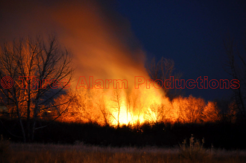 A small wildland fire in Cimarron Hills, Colorado on Jan. 19, 2013. Mutual aid was requested to assist in containing the outside fire.