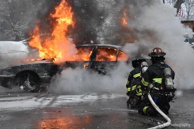 Amityville Vehicle Fire 12-09-2017