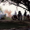 Re-enactment between the British and Spanish at Fort King George in Darien, Georgia 1998