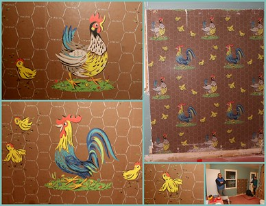 Vintage 1950s wallpaper preserved - Tuesday, December 1st, 2015