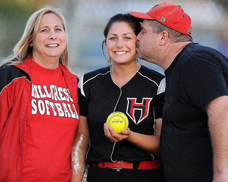 There was never a lack of love and support from Courtney's Dad, Paul (and mom Debbie). Paul was the BEST!!! We love you Paul (and the Roberts family). Our thoughts and prayers are with you.<br /> Hillcrest's Courtney Roberts (11) was the game winning pitcher and also hit the game winning home run. Her mom and dad retrieved the game winning ball.<br /> The Hillcrest Rams played host to the Byrnes Rebels in the state softball playoffs.<br /> GWINN DAVIS / Greenville News Media Group<br /> gdavis@greenvillenews.com<br /> (864) 915-0411<br /> April 29, 2011