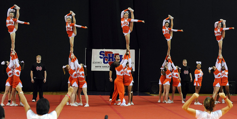 Mauldin repeats as State Class AAAA Cheerleading Champions.<br /> The South Carolina High School League hosted the State Cheerleading Championships at the Bi-Lo Center in Greenville.<br /> GWINN DAVIS / Greenville News Media Group<br /> gdavis@greenvillenews.com<br /> (864) 915-0411<br /> November 19, 2011