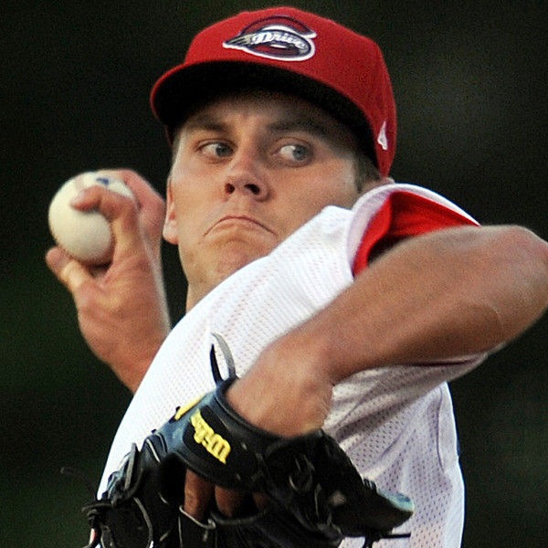 Madison Younginer made his Greenville Drive debut against Hickory.<br /> The Greenville Drive played host to the Hickory Crawdads in a South Atlantic League baseball game.<br /> GWINN DAVIS / Staff<br /> Greenville News Media Group<br /> gdavis@greenvillenews.com  <br /> (864) 915-0411<br /> April 9, 2012