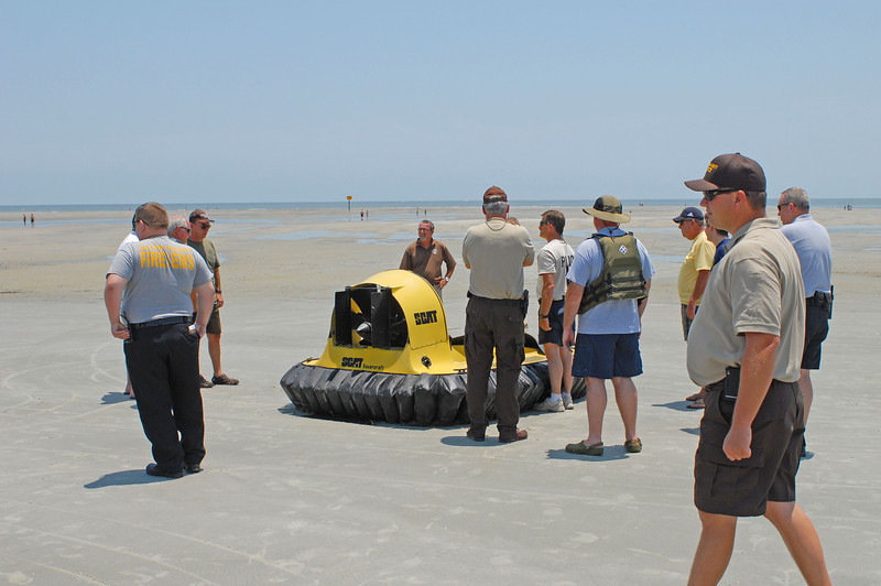 Emergency Management Agency Glynn County, Georgia Training/Feasibility Exercise with Hovercraft for Ocean Rescue 07-02-12