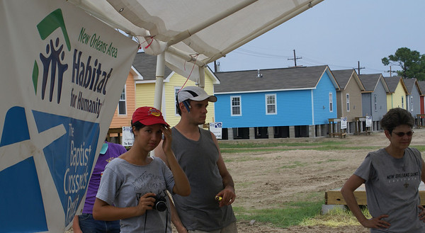 Many of the volunteers brought cameras to take pictures of their 'new' friends and progress of the homes they had worked on.