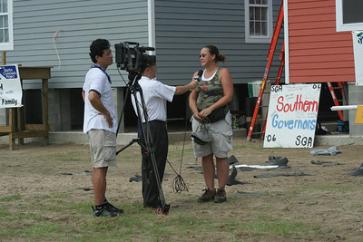 Members of the media were a frequent site in the area,with the one year anniversary of Hurricane Katrina soon approaching. This media team is from South Korea.