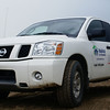 A Habitat for humanity truck . Donated by Nissan to help the Habitat crew.