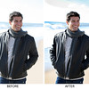 BEFORE-AFTER jacket-BEACH