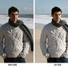 BEFORE-AFTER Sweater-chin