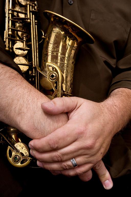 saxophone hands