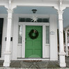 The front door at 42 Main Street, Newtown.