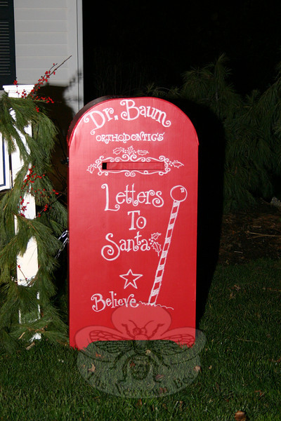 Dr Baum has posted a special mailbox outside his office at 23 Church Hill Road that will deliver letters directly to Santa.  (Hicks photo)