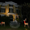 Reindeer, wreaths and garland have dressed up the formal entrance at 3 Church Hill Road this season.  (Hicks photo)