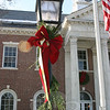 Edmond Town Hall's exterior has been decorated for the holidays.  (Hicks photo)