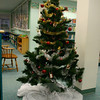 The Christmas tree in the Children's Department at C.H. Booth Library.  (Hicks photo)
