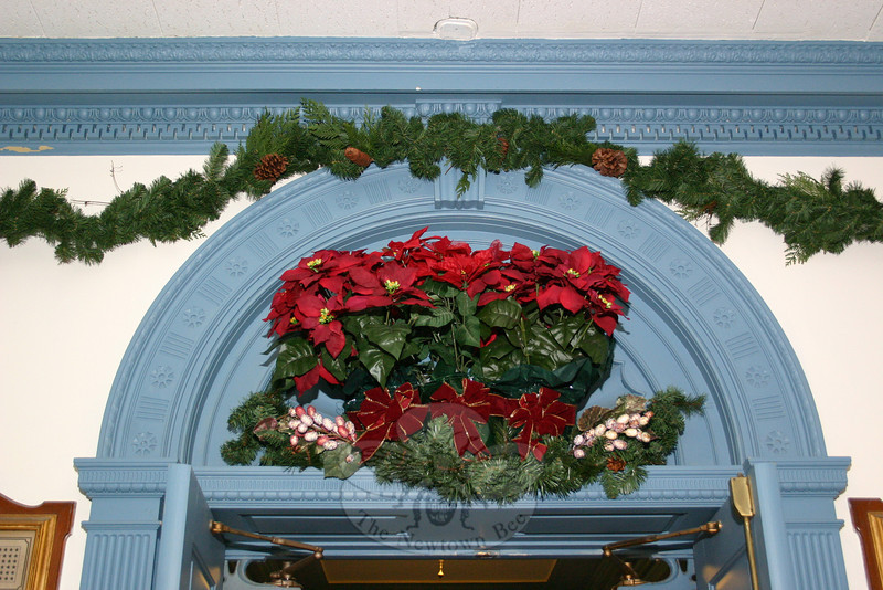 The lobby of Edmond Town Hall.  (Hicks photo)