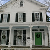 The porch at 42 Main Street, Newtown.  (Hicks photo)