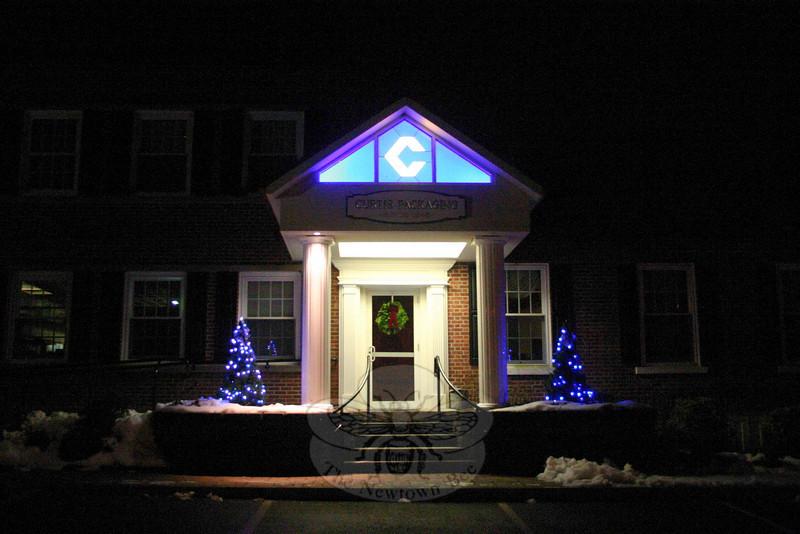 Curtis Packaging's main entrance, off Berkshire Road, Sandy Hook.  (Hicks photo)
