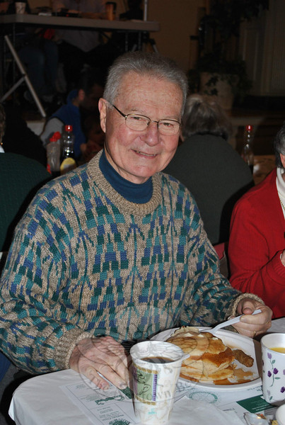 Former First Selectman Joseph Borst was spotted at Saturday's pancake breakfast.  (Crevier photo)
