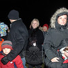 Residents bundled up and headed to Hawleyville Center on Sunday for the first tree lighting in that section of town.  (Bobowick photo)