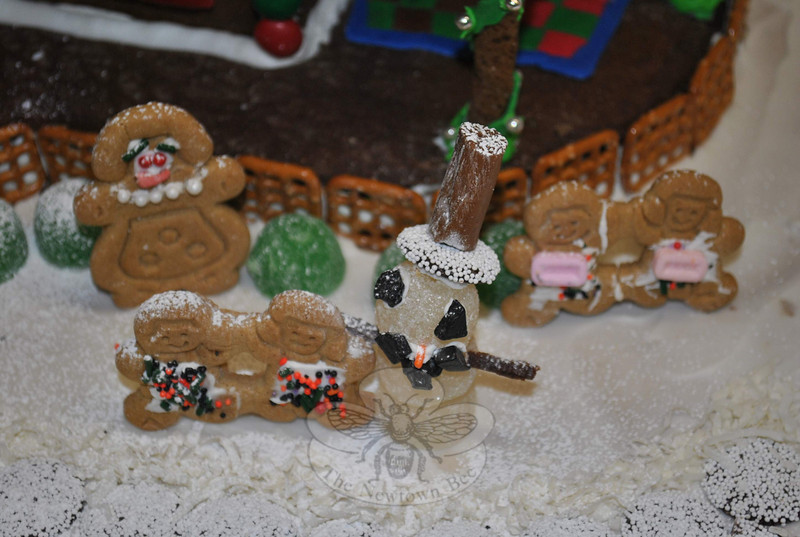 Detail from the Gingerbread Mansion that won the Family Division of NYFS's Gingerbread House Contest.  (Crevier photo)