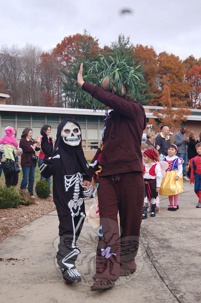 Halloween Parade at Sandy Hook School, Friday October 31.  (Hallabeck photo)