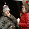 Matthew & Renee Knapp attended the Sandy Hook Tree Lighting on December 5.  (Bobowick photo)