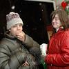 Matthew & Renee Knapp attended the Sandy Hook Tree Lighting on December 5.  (Bobowick photo)