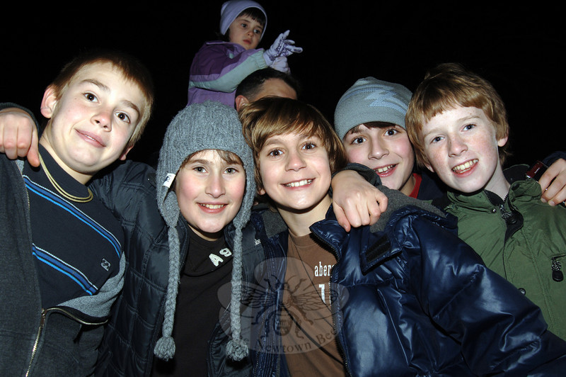 Friends gathered for the annual tree lighting at Ram Pasture on Friday, December 4, 2009. It was the first event in a weekend full of activities for all ages in Newtown. (Bobowick photo)