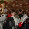 Caroling before the Sandy Hook Tree Lighting.  (Bobowick photo)