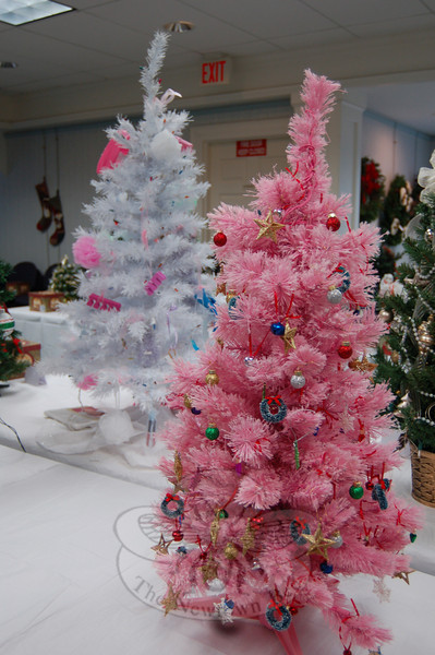 Pretty trees of many styles were entered into the Festival of Trees, one of the Holiday Festival events offered on Sunday, December 6.  (Crevier photo)