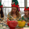 Girl Scouts dressed as elves and coordinated crafts during Breakfast With Santa.  (Bobowick photo)