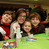 Family fun during Breakfast With Santa, December 5 at Newtown Middle School.  (Bobowick photo)