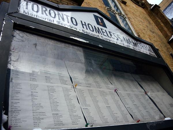 Homeless Memorial Vigil - January 2016