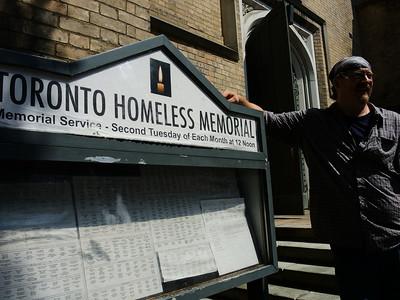 Homeless Memorial Vigil - August 2014