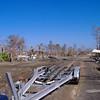 Hurricane Katrina damage  - debris fField