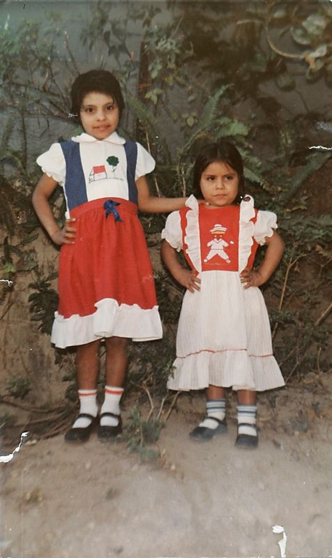 7/1/2005 --San Salvador, El Salvador --  Copy photo of Imelda (left) and Maria after their parents were murdered and before they were adopted out to the US. Story by Yvonne Abraham; Photo by Dina Rudick, Boston Globe Staff