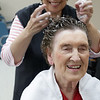 """Beatrice Lane has been getting her hair done religiously for 43 years from Betty Jo's hair fashions which is located right opposite from Lane's office downtown.<br /> """"I started doing her hair in 1976, and I still enjoy doing her hair,"""" Betty Jo said."""