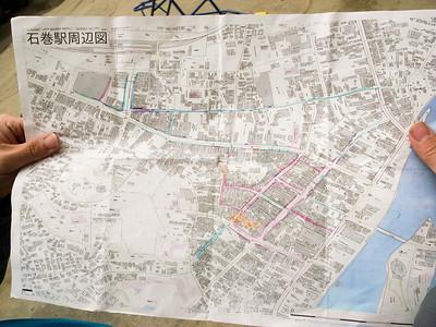 Map of Ishinomaki.
