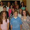 Newtown Middle School students elected officers for its Student Council on Friday, October 9. Prior to the vote, the candidates stood together. From left, front row, are presidential candidates Christina Badiola, Matthew Mossbarger, and Marie Joe Rossi; second row, vice president contenders Nick Lotrecchiano, Victoria Madden, and Nicole O'Leary; third row, Sarah Riccio and Katelyn Zimmerman, running for spokesperson; top row, treasurer candidates Annie Beier, Noelle Benson, Meaghan Brophy, and Lauren Harrison.  (Hallabeck photo)
