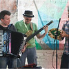 Tarciso Alves Forró Band at Egleston Square Peace Garden. Left to right: Ken Hyatt, Sandro Scoccia and Tarciso Alves.