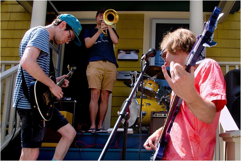 Performers on Dresden Street.