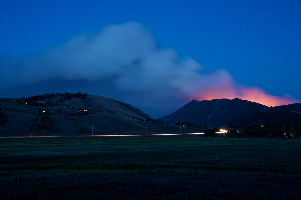 Amazing colors - it looks like the Snow King Volcano from over here. Hope it stops at the top...