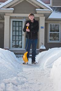 (1) Pslip Slug #: (Pending); (2) Ridgewood, NJ; (3) 01/12/2011; (4) Ridgewood Responds to Another Snow Storm; (5) Gus finally finishes the front walk on 1/12/2011; (6) W.H. Grae for the Ridgewood News.