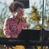 """Zahili Gonzalez Zamora on keyboard in a performance of her piece, """"Friends."""""""
